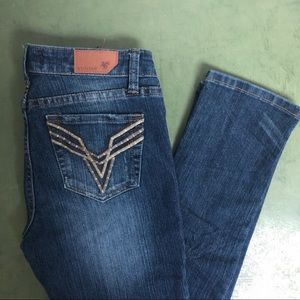 Vigoss Skinny Stretch Jeans w Embroidered  Pockets